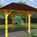 Výhody zahradních pergol ze dřeva